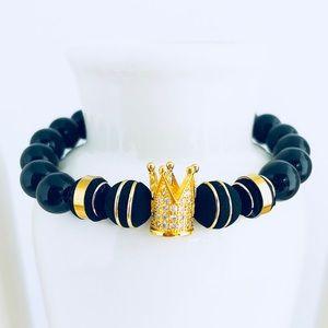 Onyx Queen Beaded Bracelet